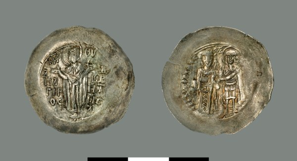 Aspron trachy of Theodore Komnenos-Doukas (1227-1230)