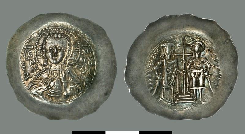 Aspron trachy of Theodore I Laskaris (1204-1221)