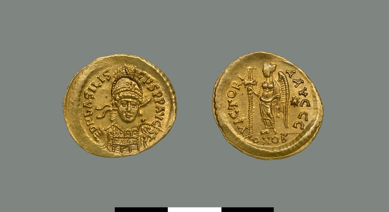 Solidus of Basiliscus (475-476)