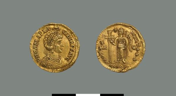 Solidus of Galla Placidia (421-450)