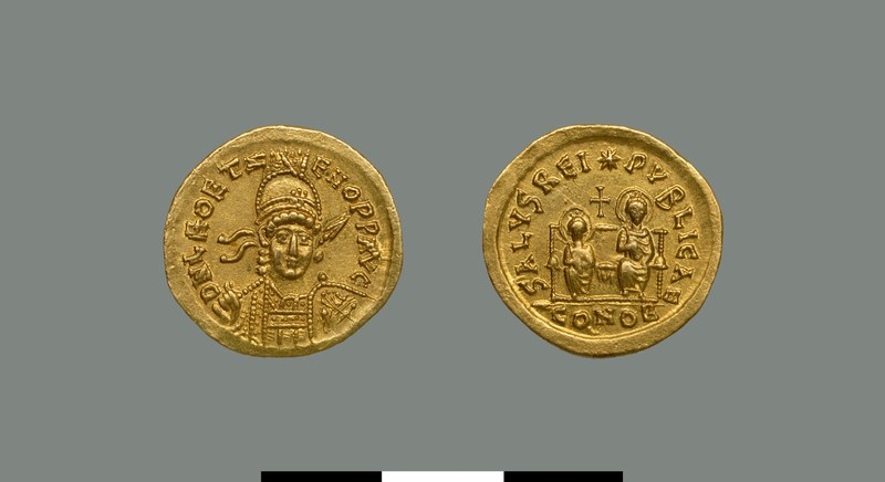 Solidus of Leo II and Zeno (474)