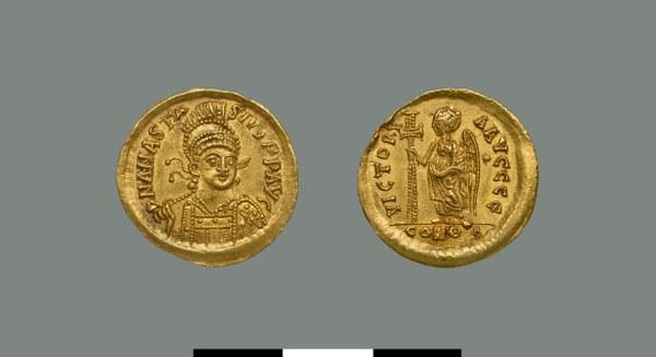 Solidus of Anastasios I (491-518)