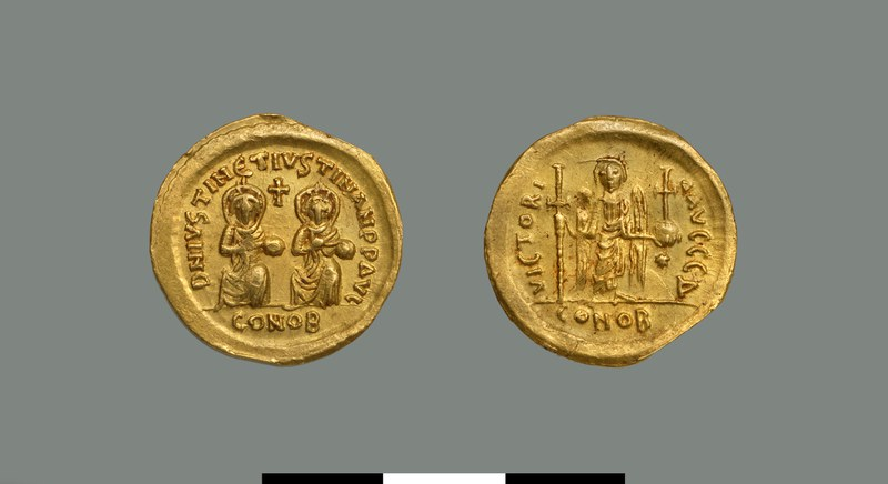 Solidus of Justin I and Justinian I (527)