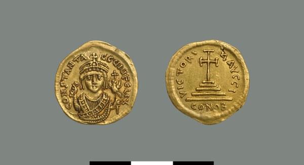 Solidus of Tiberios I (578-582)