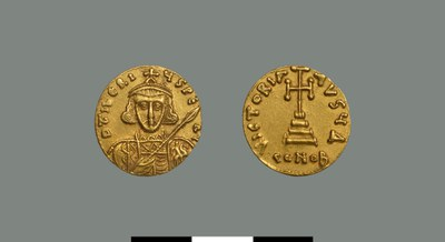 Solidus of Tiberios II (698-705)