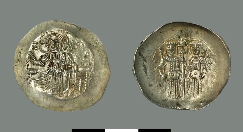 Aspron trachy of Alexios III Angelos (1195-1203)