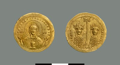Nomisma histamenon of Zoe and Theodora (1042)