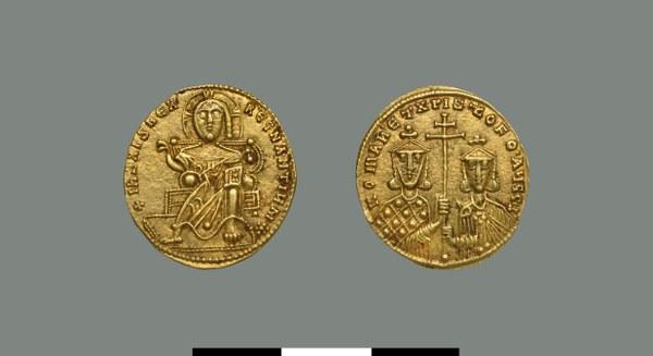 Solidus of Constantine VII Porphyrogennetos (and Romanos I Lekapenos) (913-959)