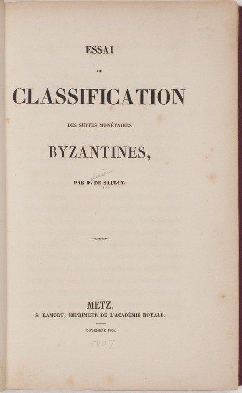 Essai de classification des suites monétaires byzantines