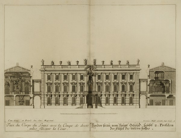 Elevation of the Corps de Logis
