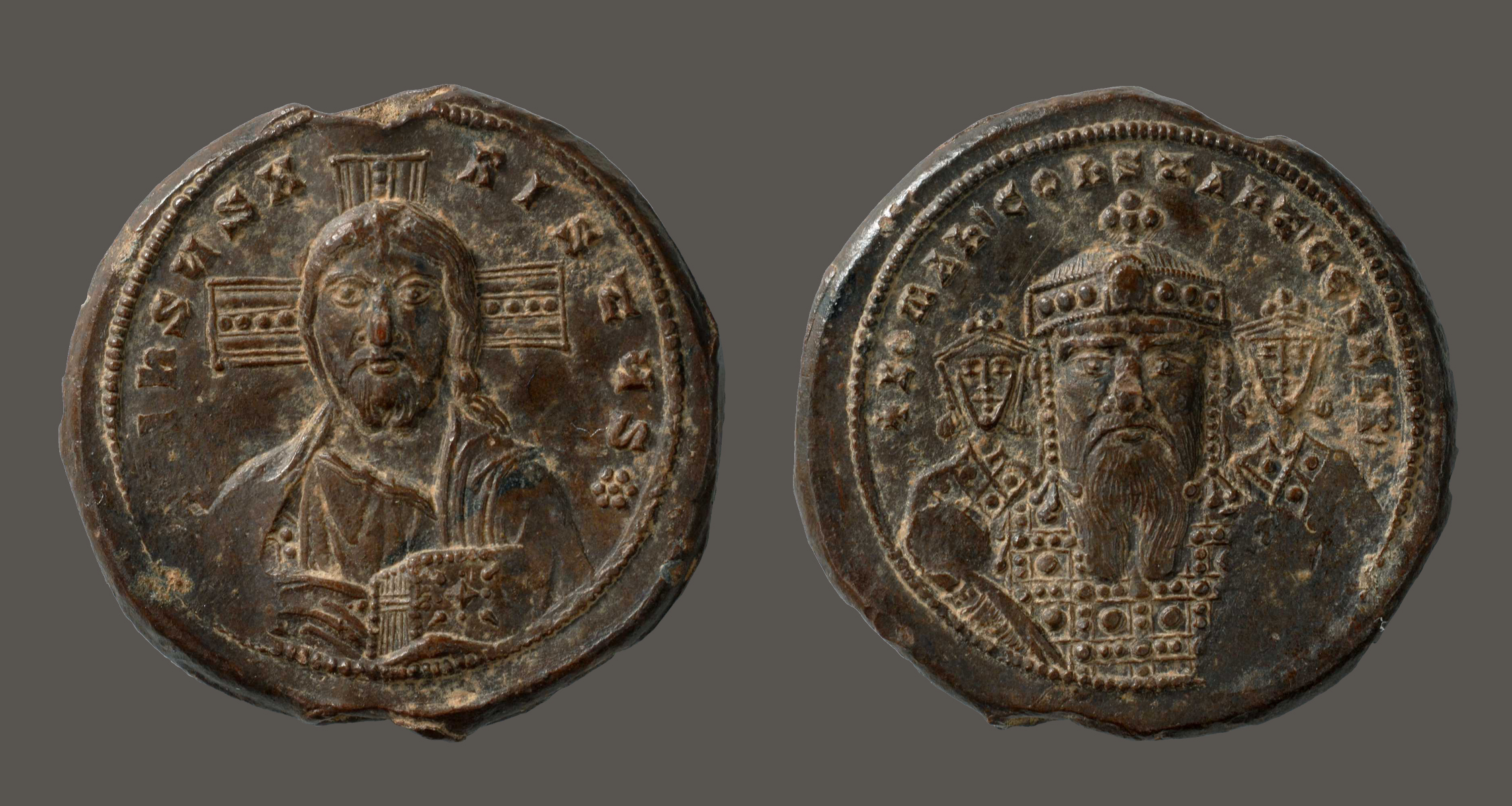 Diplomatic Ancient Byzantine Bronze Constantine V Follis Coin 8th Century Ad Coins & Paper Money Coins: Ancient