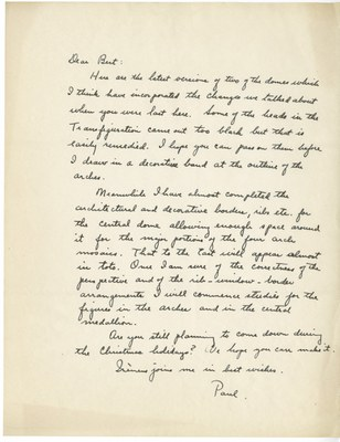 Letter from Paul A. Underwood to Albert M. Friend, no date
