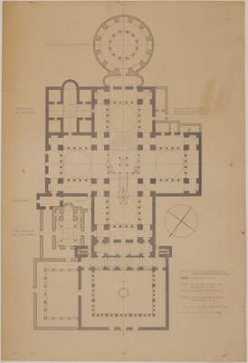 Large publication-quality ground plan of the complex