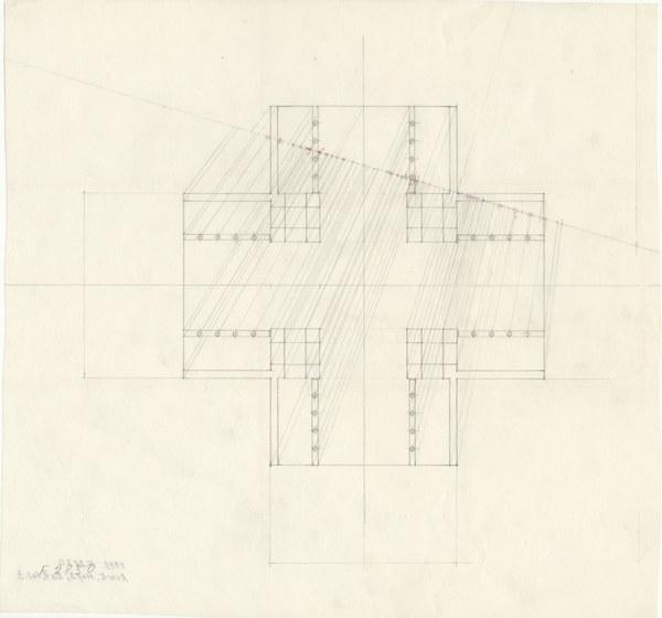 Partial ground plan sketch