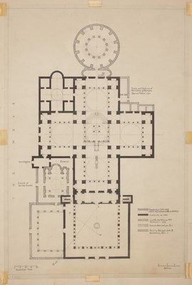 Preparatory ground plan of the Holy Apostles complex