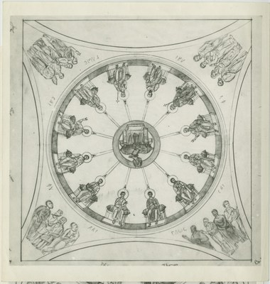 Western dome with depiction of the Pentecost
