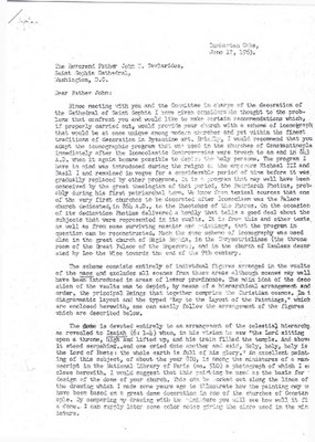 Letter from Paul A. Underwood to Father John T. Tavlarides, June 17, 1963