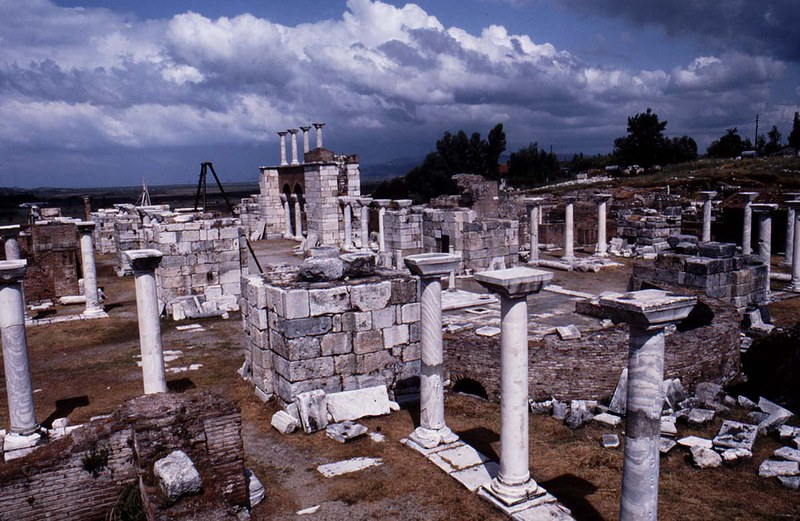 View of the archaeological remains of the church of St. John, Ephesus