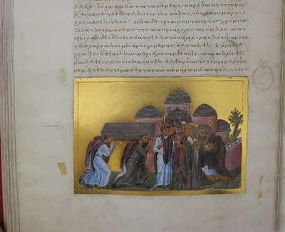 Translation of John Chrysostom's relics with church of the Holy Apostles in background