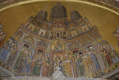 Translation of St. Mark's relics with the church of San Marco in background