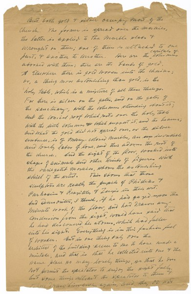 Handwritten translation of Photios' 10th homily