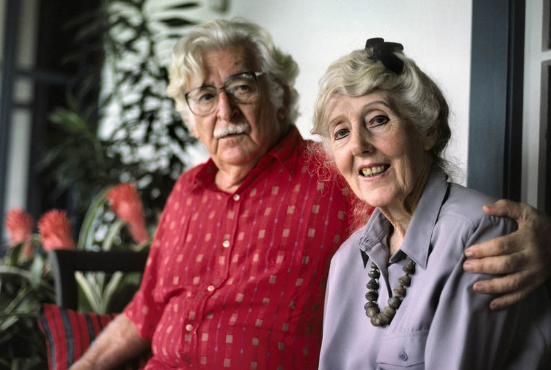 Margaret Mee and Roberto Burle Marx in his home in Rio de Janeiro, 1988