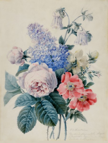 Roses, lilacs, and lilies