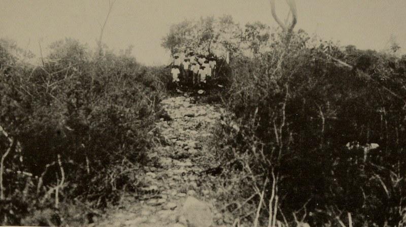 Photograph of a sacbe