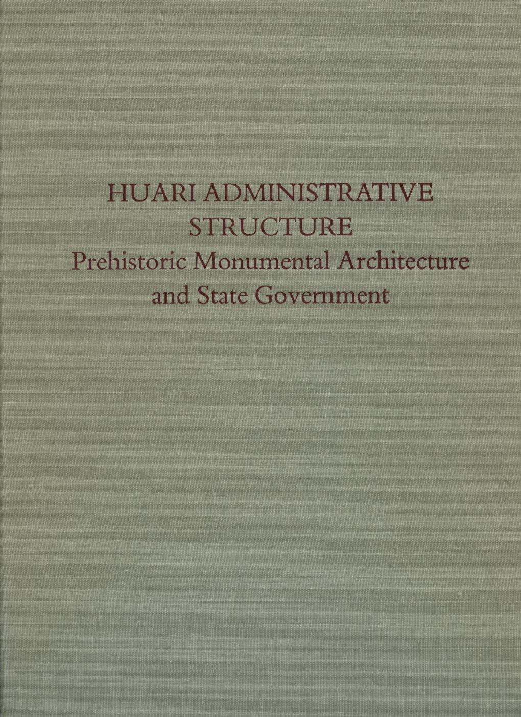 Huari Administrative Structure