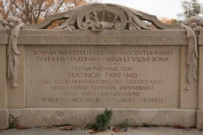 Green Garden, inscription