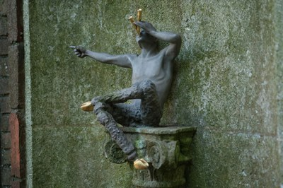 Lovers Lane Pool, Pan Statue