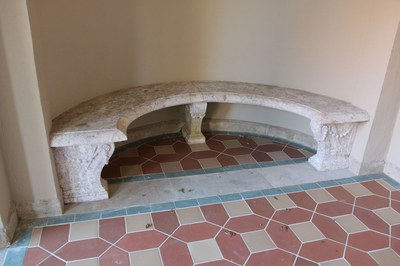 Swimming Pool and Loggia, Bench